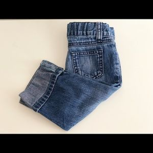 Five Pocket Boyfriend Cuffed Jeans, Toddler Girls